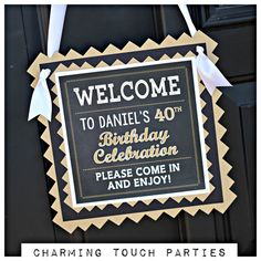 40th Birthday Party Decorations 4 Piece By CharmingTouchParties