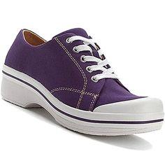 DANSKO VEDA VEGAN Canvas Sneaker Clog Oxford Lace-Up Comfort Walking Purple 38 8 #Dansko #Clogs