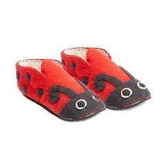 948607e025a2 Ladybug Slippers Adult - Silk Road Bazaar Sheep Wool