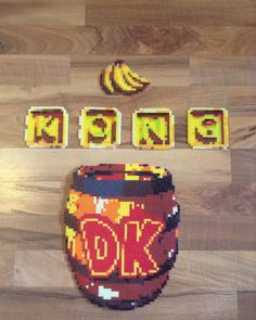 "@piknperlers on Instagram: ""DK Perler Beads!"" #donkeykong Pearler Bead Patterns, Perler Patterns, Pearler Beads, 3d Perler Bead, Perler Bead Art, Pixel Beads, Fuse Beads, Perler Coasters, Melting Beads"