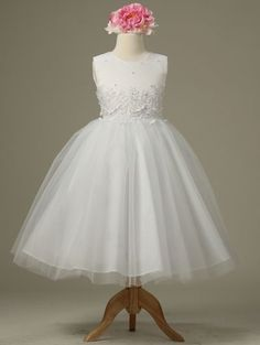 Flower girl Embroidered Pearl Dress Graduation Wedding Holy Communion Pageant #Dress