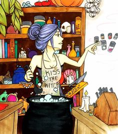 Day 27: Cook/Baker Witch by HolyDemon on DeviantArt