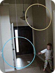 Paper Airplane - Hoola Hoop Game Rainy day activity