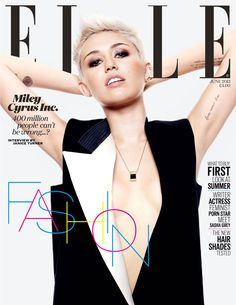 """Miley Cyrus Tells Elle UK""""It Seems Right to Be Wearing This Ring"""" I wish I had the cajones to pull off her hair!!"""