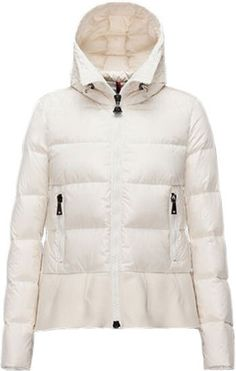 Moncler white puffer— timeless and elegant staple for every closet