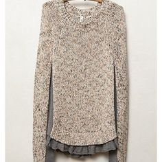 Anthropologie Apsara sweater Like new! Worn only a couple of times. Size medium but I listed as a small because that's what I normally wear and I found this to be snug in a size small. Gorgeous! Anthropologie Sweaters Crew & Scoop Necks