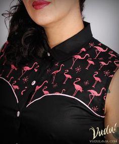 Blusa Wanda Jackson - Flamingo
