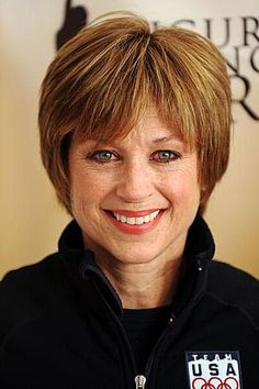 Dorothy Hamill's Famous Wedge Haircut Photo Gallery: Dorothy Hamill in 2010 Short Wedge Haircut, Short Wedge Hairstyles, Short Pixie Haircuts, Short Hairstyles For Women, Short Hair Cuts, Bob Hairstyles, Straight Hairstyles, Hairdos, Layered Hairstyles
