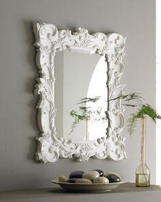 H3Z02 ANTIQUE AS ELEGANT Baroque-Style Mirror