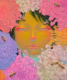 The Vibrant Flower Filled Paintings of Fuco Ueda - My Modern Metropolis