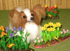 Needle Felted Dog / Custom Miniature Sculpture of by GourmetFelted,