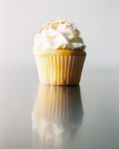 The cupcake version of The Dottie. A pineapple coconut cupcake.  Photo by Jonathan Canlas