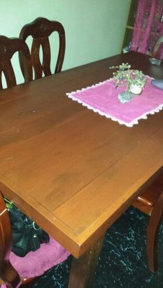 Jarrah dining table. Stained and finished it. Beautiful now. :)