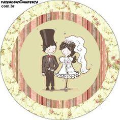Kit Completo Casamento Vintage Floral