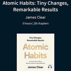 These points that stand out from so far: Achieving a goal is momentary. For a more sustainable change, change the system that causes the result. Start with repetition, not perfection. Habits for based on frequency, not time. Motivational Books, Need Motivation, Good Habits, Breaking Bad, Sustainability, Cards Against Humanity, Goals, Change, Reading