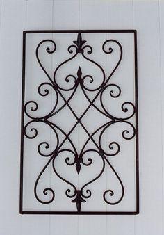 Wrought Iron Decor, Iron Wall Decor, Wrought Iron Gates, Window Grill Design Modern, Grill Door Design, Railing Design, Gate Design, Metal Railings, Tuscan Design