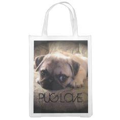Pug Dog Reusable Bag