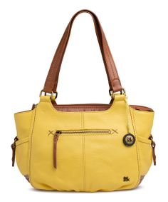 Dandelion Block Kendra Leather Satchel