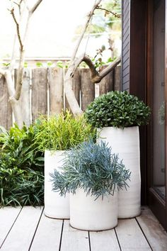 55 Ideas Front Patio Planters Outdoor Spaces For 2019 Front Door Planters, Outdoor Planters, Concrete Planters, Cheap Planters, Ceramic Planters, Contemporary Planters, Modern Planters, White Planters, Garden Modern