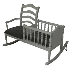 Rock the baby bassinet.I love this idea of rocking Daylin in the bassinet he'll sleep in. No need for transferring from rocking chair to crib. Baby Love, Cribs, Baby Kids, Accent Chairs, Kids Room, Sweet Home, Nursery, Rustic, Home Decor