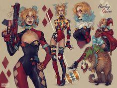 Joker And Harley Quinn, Harley Costume, Drawing Superheroes, Gotham Girls, Dc Comics Art, Comic Book Characters, Anime, Marvel Dc, Costumes