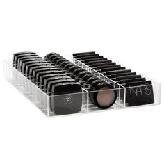 """This 39 Slot Compact/Blush Organizer is perfectly designed to fit inside of your Ikea Alex Drawers. You can also use it to organize individual eyeshadows and glitters. DIMENSIONS 11.25"""" W X 14"""" X L X"""