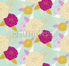Pompon Rose by Petra Kern available as a vector file on patterndesigns.com
