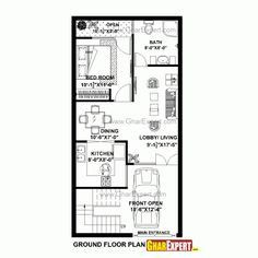 Home Plans 15 X 60 House Plan For 17 Feet By 45 Feet Plot Plot Size 85 Square Yards 20x40 House Plans 2bhk House Plan House Plans With Pictures