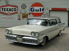 1958 Mercury Conmunter Station Wagon...love this front end. No worries about coefficient of drag, just style.