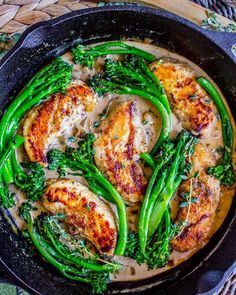 One Skillet Chicken & Broccolini with Mustard Cream Sauce is a quick easy and healthy way to add flavor to your #mealpreps! AND use that new veggie we mentioned yesterday broccolini! _ Ingredients  1 and 1/2 pounds chicken tenderloins thawed salt and pepp http://projectdzu.tumblr.com/