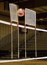 Tandem Block Blaster - Consists of 2 separate blocking devices that secure to the net for a controlled block every time.