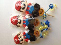 Super Mario bros marshmallow pops by Marshmallowfavors on Etsy, $48.00