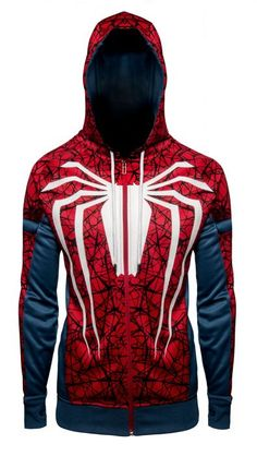 Tom Holland Spider-Man Far From Home Peter Parker Hoodie Superhero Costumes For Boys, Marvel Hoodies, Cool Outfits, Fashion Outfits, How To Make Comics, Super Hero Costumes, Cosplay, Zip Hoodie, Motorcycle Jacket
