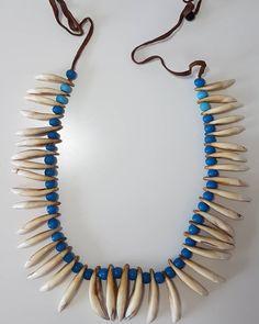 "andrea gillarduzzi on Instagram: ""A 19th century prestige Xhosa women dogteeth  necklace. Glass beads, teeth and hide string.  #zulutresures #prestige #antique #zulu…"" Xhosa, Zulu, The Prestige, African Art, Tassel Necklace, 19th Century, Teeth, Glass Beads, Antiques"