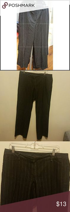 Larry Levine striped trousers Very comfortable and stretchy pair of pants great for work or going out for drinks,waist measures 38 hips 46 inches and inseam is  31 inches.  No pilling,holes,stains or rips Larry Levine Pants Trousers