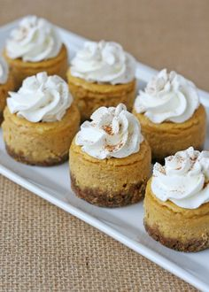Mini Pumpkin Cheesecake Recipe - by Glorious Treats - Click image to find more popular food & drink Pinterest pins