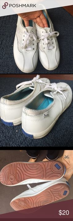 Leather Keds Tennis Shoes These are in very new clean condition. Worn only once as you can tell by the bottom of the shoes. Keds Shoes Sneakers