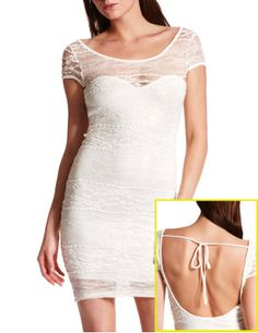 TIE-BACK ALL LACE DRESS