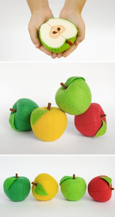 Play set Apples 8 pcs Waldorf toys fruit Baby toy Birthday gifts Stuffed toy…