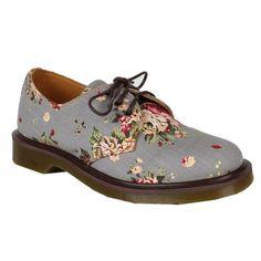 79f8a106e3e1 Dr. Martens Mens 1461 Print Flower Shoes Light Grey Cheap  115.00 Color   Light Grey Surface Material  Cloth Design  Flower