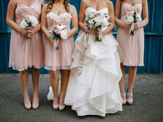 Amsale in blush for the bridesmaids — Nordstrom Wedding Suite Blog