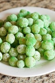 sour patch grapes. Easy & inexpensive & go perfectly with the Two Peas in a Pod theme!