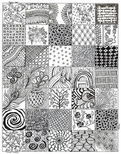 zentangle drawings patterns doodle tangle zen zentangles draw read drawing