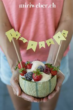 Melonen Eis Cakepops, Acai Bowl, Birthday Cake, Breakfast, Party, Desserts, Food, Videos, Instagram