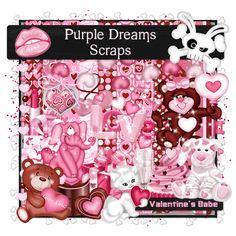 Purple Dreams Scraps: Valentine's Babe