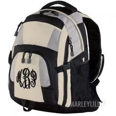 Monogrammed Urban Backpack from Marleylilly.com! #monograms #backpack #hiking