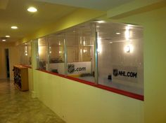 Ever heard of a home with an indoor hockey rink? Find it in Short Hills, NJ at Boys Hockey Room, Hockey Shot, Hockey Decor, Short Hills, Hockey Season, House In Nature, Ice Rink, Half Walls, Lucci