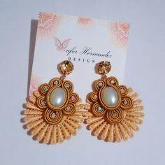 Beaded Tassel Earrings, Soutache Jewelry, Diy Earrings, Earrings Handmade, Pearl Earrings, Stone Jewelry, Wire Jewelry, Embroidery Jewelry, Shibori
