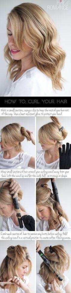 Hair Romance - how to create soft waves - hair curling tutorial