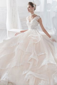Wedding Dress Lace Courtesy of Nicole Spose Wedding Dresses Nicole Collection - Wedding Dresses Wedding Dresses 2018, Princess Wedding Dresses, Quinceanera Dresses, Bridal Dresses, Perfect Wedding Dress, Lace Dress, Christmas Skirt, Christmas Ornaments, Ball Gown